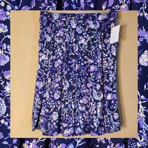 Lularoe XLarge Purple Floral Swing/Full Skirt NWT